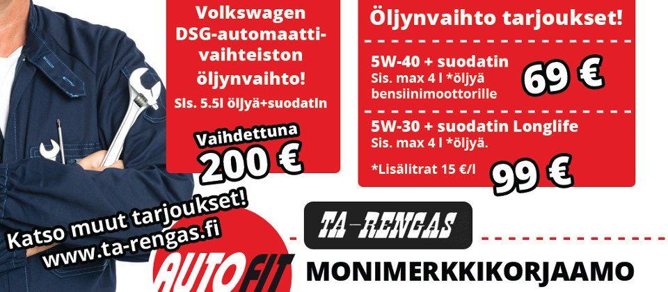 DSG-automaattivaihteiston öljynvaihto