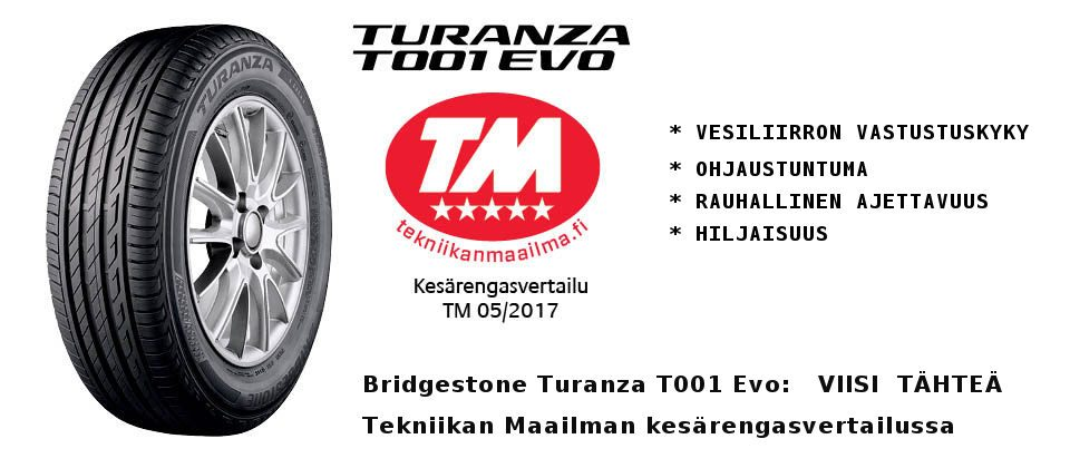 Bridgestone Turanza 5 tähteä